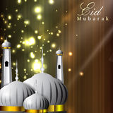 Shiny Eid Mubarak background Royalty Free Stock Photos