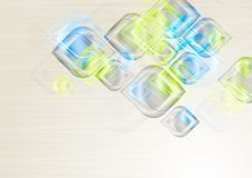 Shiny elegant shapes. Vector background Stock Photography