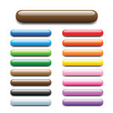 Shiny elongated bar tabs. Glossy, shiny candy looking elongated bars for web. Completed with square and round buttons in my profile Royalty Free Stock Image