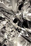 Shiny Engine. Closeup. Powerful and Economic Vehicle Engine.Technology Photo Collection Stock Photo