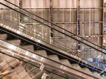 Shiny escalator, Las Vegas, Nevada. Glimmering wall and escalator, Las Vegas resort Stock Photography