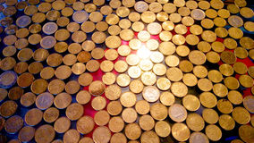 Shiny Euro coins Royalty Free Stock Images