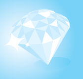 Shiny expensive looking diamond. Royalty Free Stock Photos