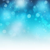 Shiny Festive Snowflakes and Sparkle Christmas Background Royalty Free Stock Photos