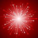 Shiny firework Stock Images
