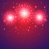 Shiny firework Royalty Free Stock Image