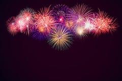 Shiny Fireworks background Royalty Free Stock Photo