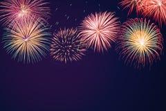 Shiny Fireworks background Stock Images
