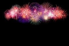 Shiny Fireworks background Stock Photo