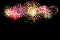 Shiny Fireworks background Stock Image