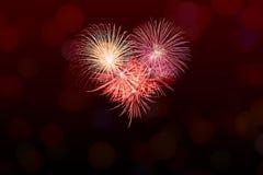 Shiny Fireworks background Stock Photography