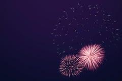 Shiny Fireworks background Royalty Free Stock Photography