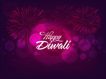 Shiny fireworks for Happy Diwali celebration. Royalty Free Stock Photos