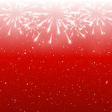 Shiny fireworks on red. Background Stock Images