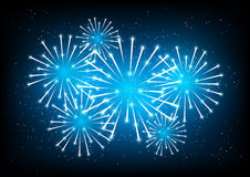 Shiny fireworks Stock Images