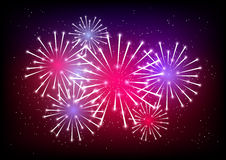 Shiny fireworks. For Your design 2 Royalty Free Stock Image