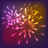 Shiny fireworks Royalty Free Stock Photo