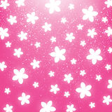 Shiny flowers on pink Stock Images