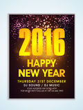 Shiny Flyer, Banner or Pamphlet for New Year. Shiny creative Flyer, Banner or Pamphlet design with golden text Happy New Year 2016 Royalty Free Stock Photos
