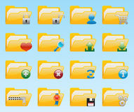 Shiny folder icons set Stock Images