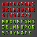 Shiny font alphabet Stock Photos