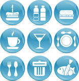Shiny food icons in vector Stock Image