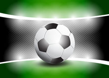 Shiny Football Stage Royalty Free Stock Photos