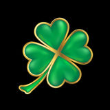 Shiny four leaf clover Stock Photos