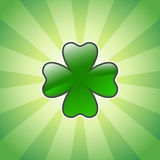 Shiny four leaves clover Royalty Free Stock Photography