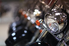 Shiny fragments of motorcycles Royalty Free Stock Images