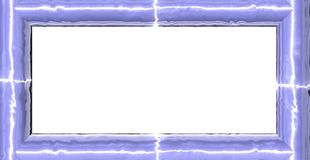 Shiny frame. 3d generated rectangular blue glass frame with place for text Royalty Free Stock Image
