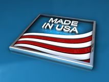 Shiny frame with made in USA embossed Stock Images