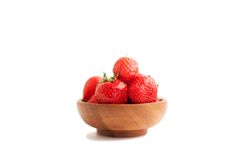 Shiny fresh strawberry Royalty Free Stock Photos
