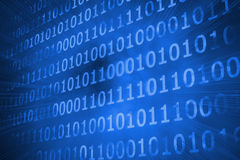 Shiny futuristic binary code Stock Photo