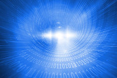 Shiny futuristic binary code spiral Stock Photos