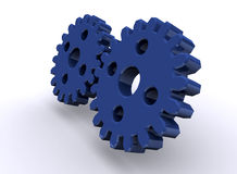 Shiny gears Stock Image