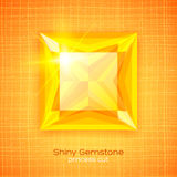 Shiny gemstone on textured background Stock Image