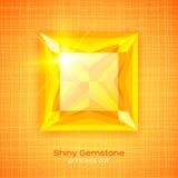 Shiny gemstone on textured background stock image