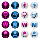 Shiny Gender Icons Royalty Free Stock Photography