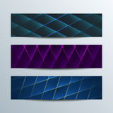 Shiny geometric banners. Three shiny geometric banners. Vector business concept Stock Images