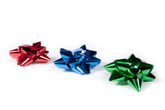 Shiny Gift Bows Royalty Free Stock Photography