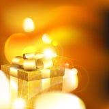 Shiny gift box Stock Image