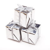 Shiny Gift Boxes Royalty Free Stock Image