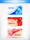 Shiny gift card. Vector shiny gift cards design 04 Royalty Free Stock Images