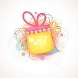 Shiny gift for Islamic festival, Eid Mubarak celebration. Stock Photos