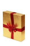 Shiny giftbox isolated. On the white background Royalty Free Stock Images