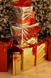 Shiny gifts royalty free stock image