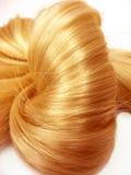 Shiny gingery hair knot Stock Photo