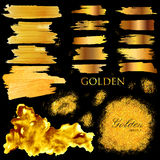Shiny Glamorous Glittering Gold texture background Stock Image