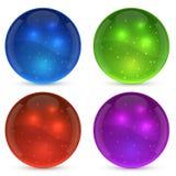Shiny glass ball set Stock Photos